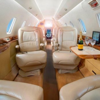 Citation X interior forward