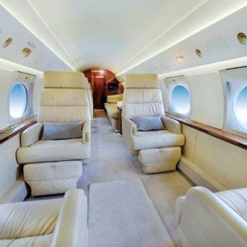 JetCity private jet charter. Luxury Gulfstream IV forward cabin