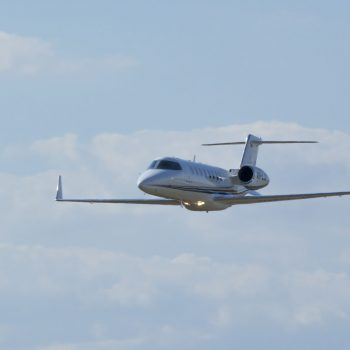 JetCity LearJet 45 in flight